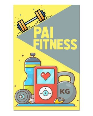Ímã Decorativo Pai Fitness - Cute - IDF34