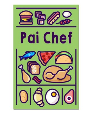 Ímã Decorativo Pai Chef - Cute - IDF36