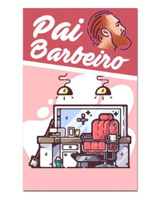 Ímã Decorativo Pai Barbeiro - Cute - IDF41