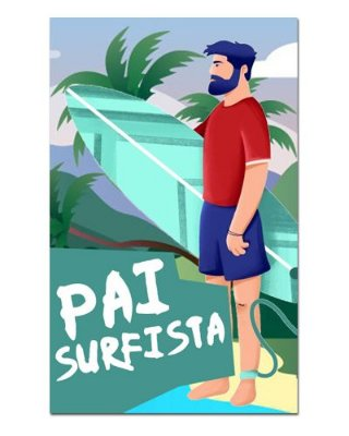 Ímã Decorativo Pai Surfista - Cute - IDF44