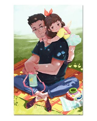Ímã Decorativo Feliz Dia dos Pais - Cute - IDF57
