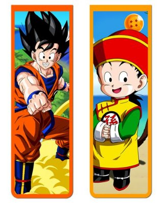 Pack Marcador Magnético - Goku e Gohan - Dragon Ball - PKP05
