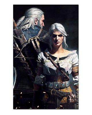 Ímã Decorativo Geralt e Ciri - The Witcher - IMG23
