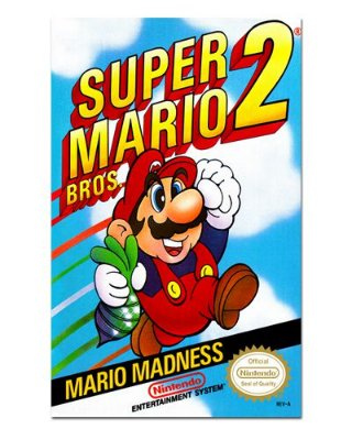 Ímã Decorativo Capa de Game - Super Mario Bros 2 - ICG28