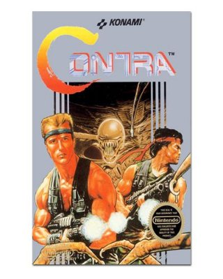 Ímã Decorativo Capa de Game - Contra - ICG35