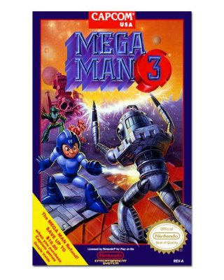 Ímã Decorativo Capa de Game - Mega Man 3 - ICG38