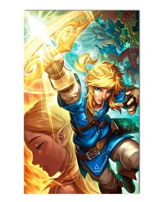 Ímã Decorativo Link e Zelda - The Legend of Zelda - IGA146