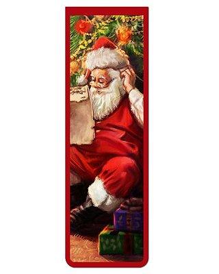 Marcador De Página Magnético Papai Noel - Natal - MNA36