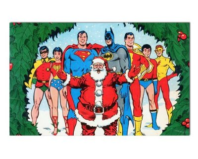 Ímã Decorativo Liga da Justiça - Natal - INT24