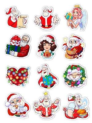 Ímãs Decorativos Natal Set D - 12 unid