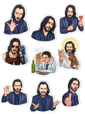 Ímãs Decorativos Keanu Reeves Set A - 9 unid