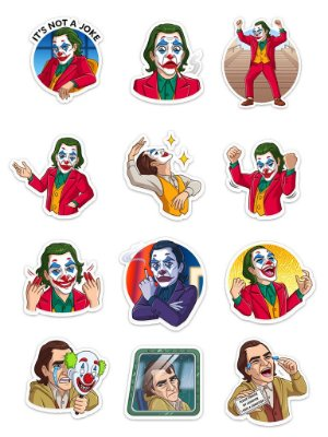 Ímãs Decorativos Joker DC Comics Set A - 12 unid