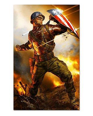 Ímã Decorativo Capitão América - Marvel Comics - IQM93