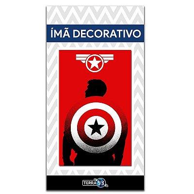 Ímã Decorativo Capitão América - Marvel Comics - IQM100