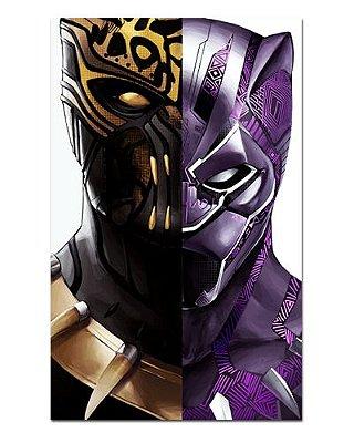Ímã Decorativo Pantera Negra e Killmonger - Marvel Comics - IQM107