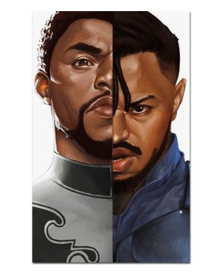 Ímã Decorativo Pantera Negra e Killmonger - Marvel Comics - IQM108