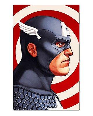 Ímã Decorativo Capitão América - Marvel Comics - IQM140