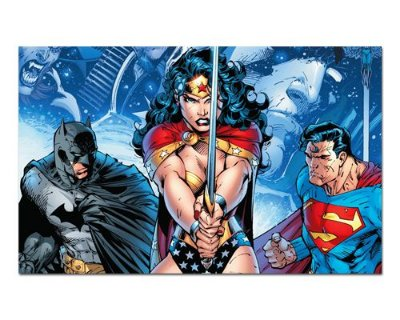 Ímã Decorativo Trinity - DC Comics - IQD115