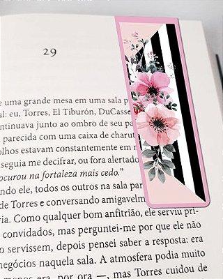 Marcador De Página Magnético Flores - Cute - MFE89