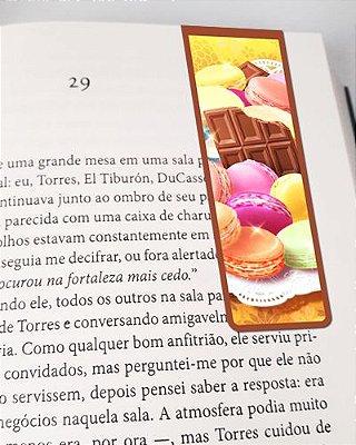Marcador De Página Magnético Macarons - Gourmet - MFE133