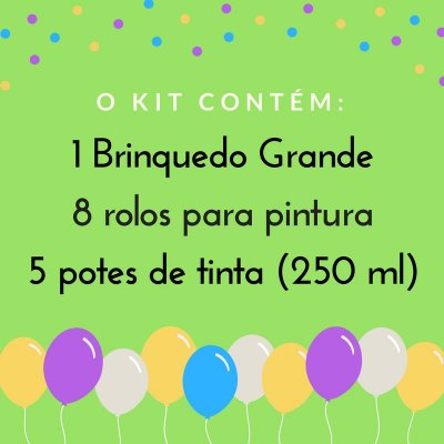 Festa criativa pintura - Kit 1