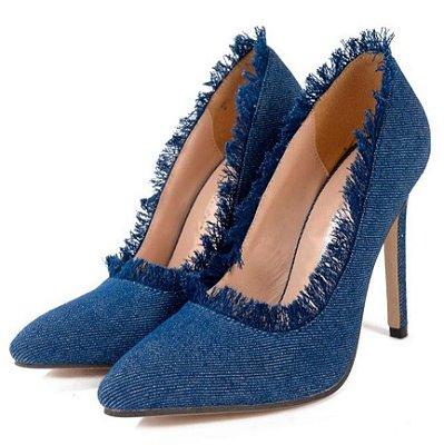 Sapato Scarpin Jeans