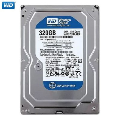 HD Western Digital Caviar Blue Desktop 320GB II SATA 3,5´ 7200RPM Cachê 8MB 3.0Gb/s - WD3200AAJS