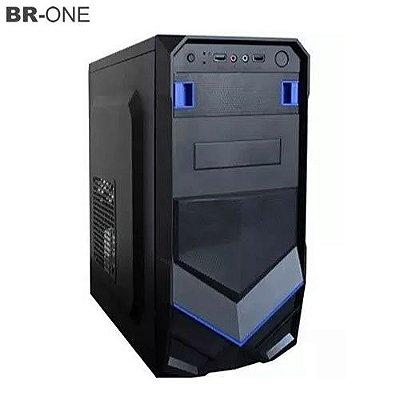 Gabinete Gamer BR-ONE P20 Azul sem Fonte 2 Baias 2 portas USB Frontal