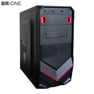 Gabinete Gamer BR-ONE P20 Vermelho sem Fonte 2 Baias 2 portas USB Frontal