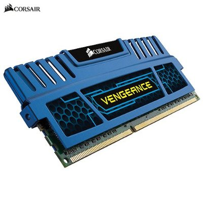 Memória 8GB PC DDR3 2x4GB 1600Mhz Corsair Vengeance Blue - CMZ8GX3M2A1600C9B