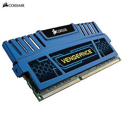 Memória 8GB PC DDR3 2x4GB 1600Mhz Corsair Vengeance Blue - CMZ8GX3M2A1600C9B
