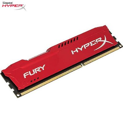 Memória 4GB PC DDR3 Kingston HyperX FURY 1600Mhz CL10 Red - HX316C10FR/4