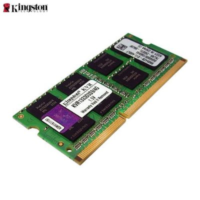 Memória 4GB Notebook DDR3 Kingston 1333 Mhz PC3-10600 CL9 204-Pin SODIMM - KVR1333D3S9/4G