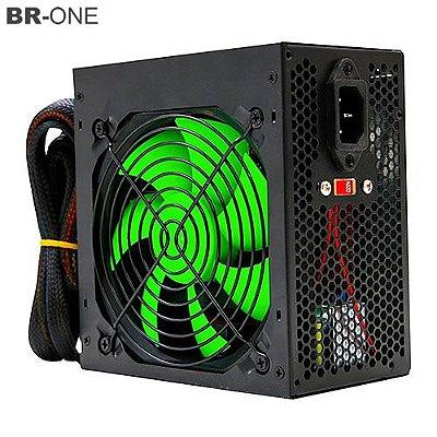 Fonte de Alimentação ATX BR ONE 24P Fan 12cm 530W Real - c/cabo - Box