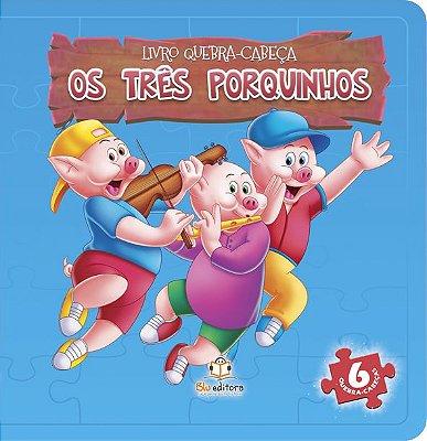 Livro Quebra-Cabeça: Os 3 Porquinhos