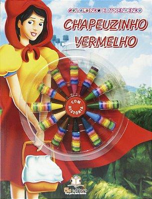 Livro Colorindo e Aprendendo: Chapeuzinho Vermelho