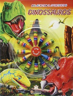 Livro Colorindo e Aprendendo: Dinossauros