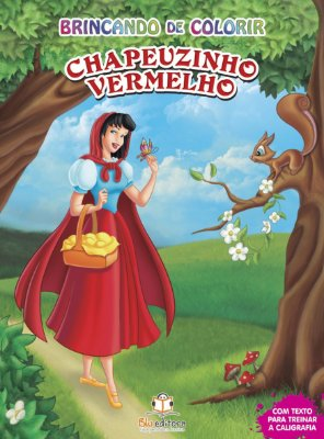 Livro Brincado de Colorir: Chapeuzinho Vermelho