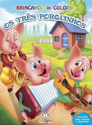 Livro Brincando de Colorir: Os Três Porquinhos