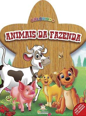 Livro Colorindo: Animais da Fazenda