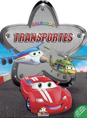 Livro Colorindo: Transportes.