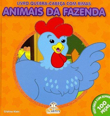 Livro Quebra-cabeça com Rimas: Animais da Fazenda
