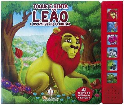 Livro Sonoro com Toque e Sinta: Leão e os Amigos da Floresta