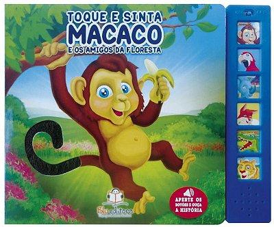 Livro Sonoro com Toque e Sinta: Macaco e os Amigos da Floresta
