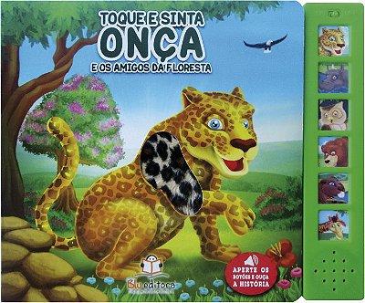 Livro Sonoro com Toque e Sinta: Onça e os Amigos da Floresta