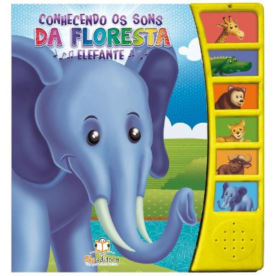 Livro Conhecendo os Sons da Floresta: Elefante