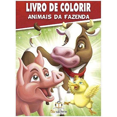 Livro de Colorir: Animais da Fazenda