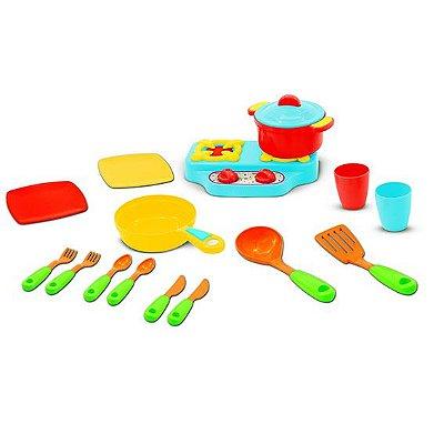 Brinquedo Kit Cozinha Colorido Solapa