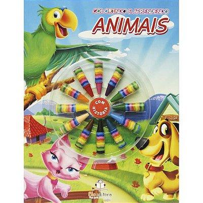 Livro Colorindo e Aprendendo: Animais