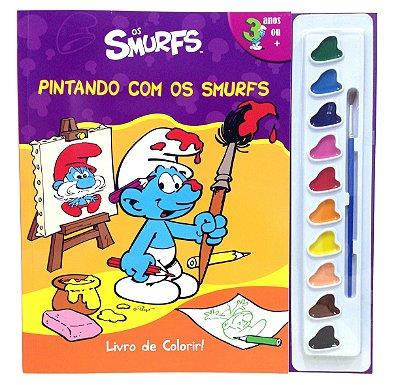 Livro de Colorir Pintando com os Smurfs